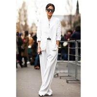 Пружина под заказ и осень Новый Горячий Женский костюм из двух частей (куртка + брюки) Женский Белый деловой строгий костюм
