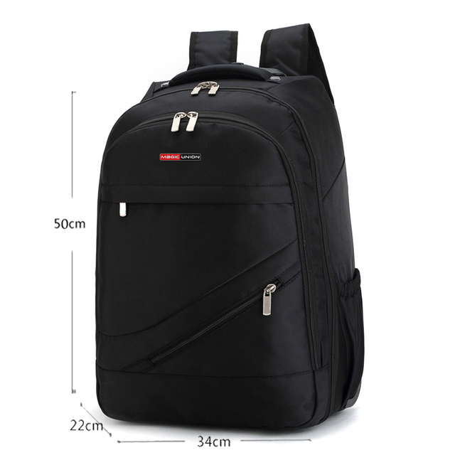 MAGIC UNION Men's Travel Bag Wheeled Backpack Large Rolling Waterproof School Book Bag Daypack Travel Carry On Luggage Suitcase 5