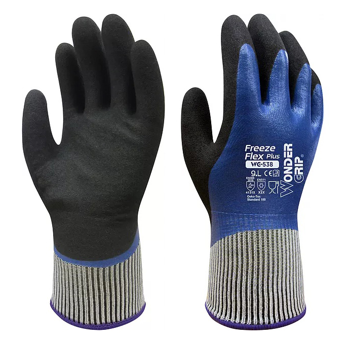 Freeze Flex Fully Oil Resistance Food Grade Contact Safety Glove Warm Winter Gardening Glove Water Proof Anti Cold Work Gloves