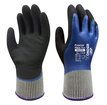 Freeze flex fully oil resistance food grade contact safety glove warm winter gardening water proof anti cold work gloves
