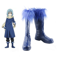 Rimuru Tempest Shoes Cosplay Tensei Shitara Slime Datta Ken Cosplay Boots Blue Shoes Custom Made Any Size