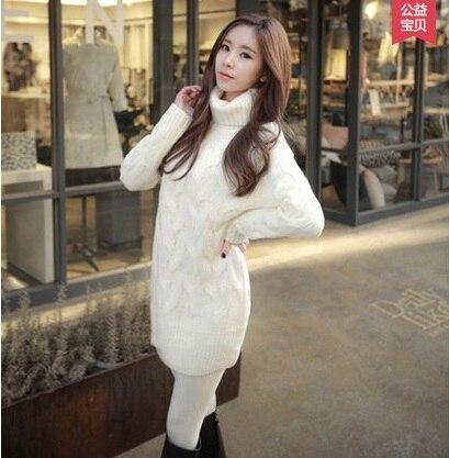 2018 Marque Femmes Cachemire Pull Femme Col Roulé Pulls Dames Blanc Épais  pulls Robe hiver Pull Femme tricoté Manteaux dans Pulls de Mode Femme et ... 352131913b48