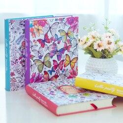 2018 kawaii cute korean floral printing book colorful flower line notebook hardcover personal journal dairy sketchbook.jpg 250x250