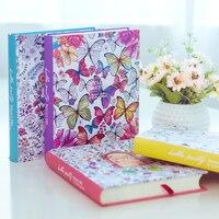 2018 Kawaii Lindo Corea Floral Impresión Libro Flor Colorida Línea de Tapa Dura Cuaderno Diario Personal Lácteos Sketchbook Para Niñas