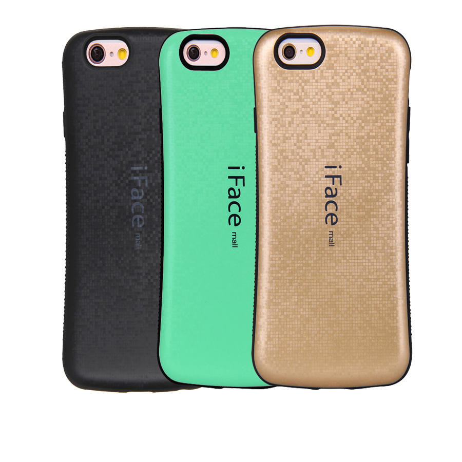 Luxury iFace Case For iPhone 4 4s 4 s Phone Case TPU&PC Hard Silicone Back Coque Funda Cover for iPhone 4S Cover Protection Bag