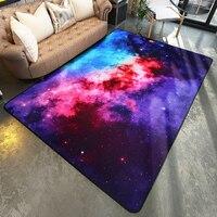 WINLIFE Colorful Galaxy Rugs Satellite Space Universal Pattern Area Carpet Slip Resistant Door Floor Mat For
