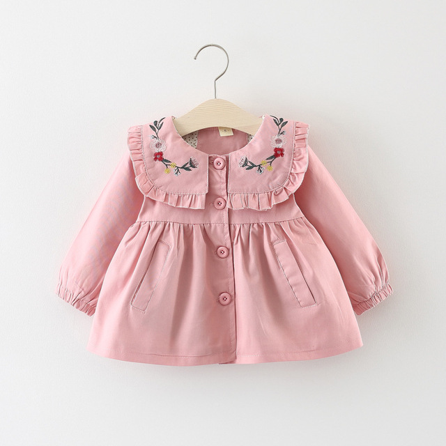 2019 New Baby Girl Jacket Long Sleeve Top Cotton Outerwear Suit Infant Fashion Toddler Girl Clothes Windbreaker Jackets coats