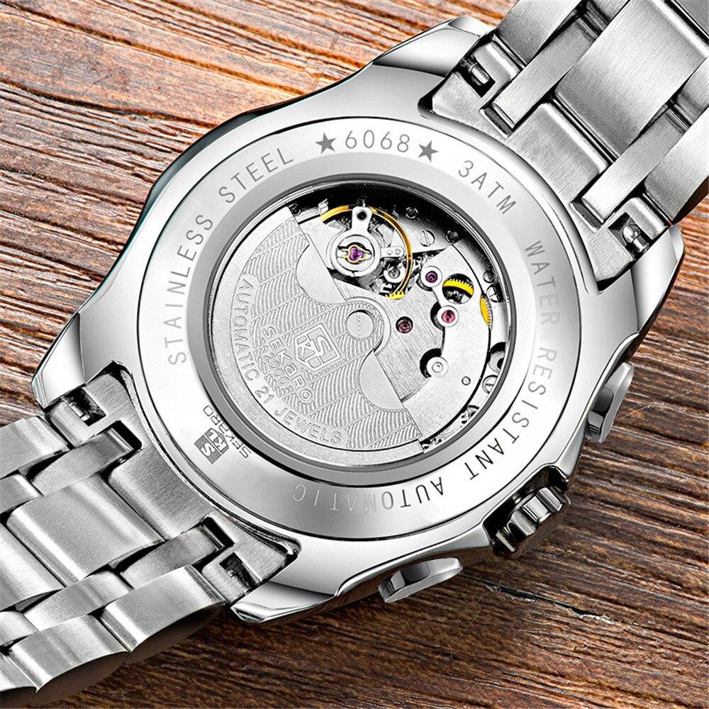 SEKARO Lujo Reloj Mecánico Automático Fecha Hombres Fecha - Relojes para hombres - foto 5