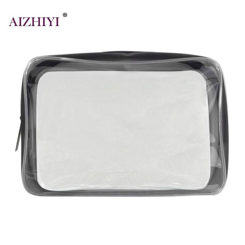 Women Waterproof PVC Clear Makeup Bags Portable Travel Flap Fashion Zipper Toiletry Clutch Case Wash Organizer Makeup Case New