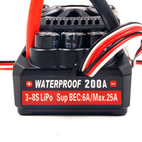 FATJAY Leopard Hobby Ground WP BL5 200A ESC waterproof 34V (MAX5) 3 8S for rc 1/5 cars crawler buggy