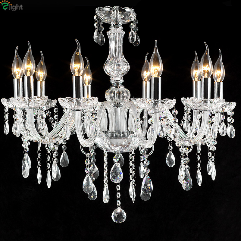 Europe Lustre Crystal Led Chandeliers Lighting Dining Room Led Pendant Chandelier Lights Living Room Led Hanging Light Fixtures modern lustre crystal led chandelier lighting chrome metal living room led pendant chandeliers light led hanging lights fixtures