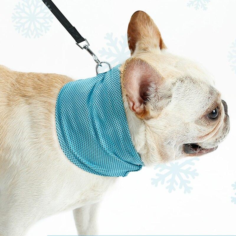 LEMONDA Instant Cooling Pet Bandana Dog Scarf Cat Scarfs Pet Bulldog Summer Cooling Towel Wrap Dog Collar, Size: S