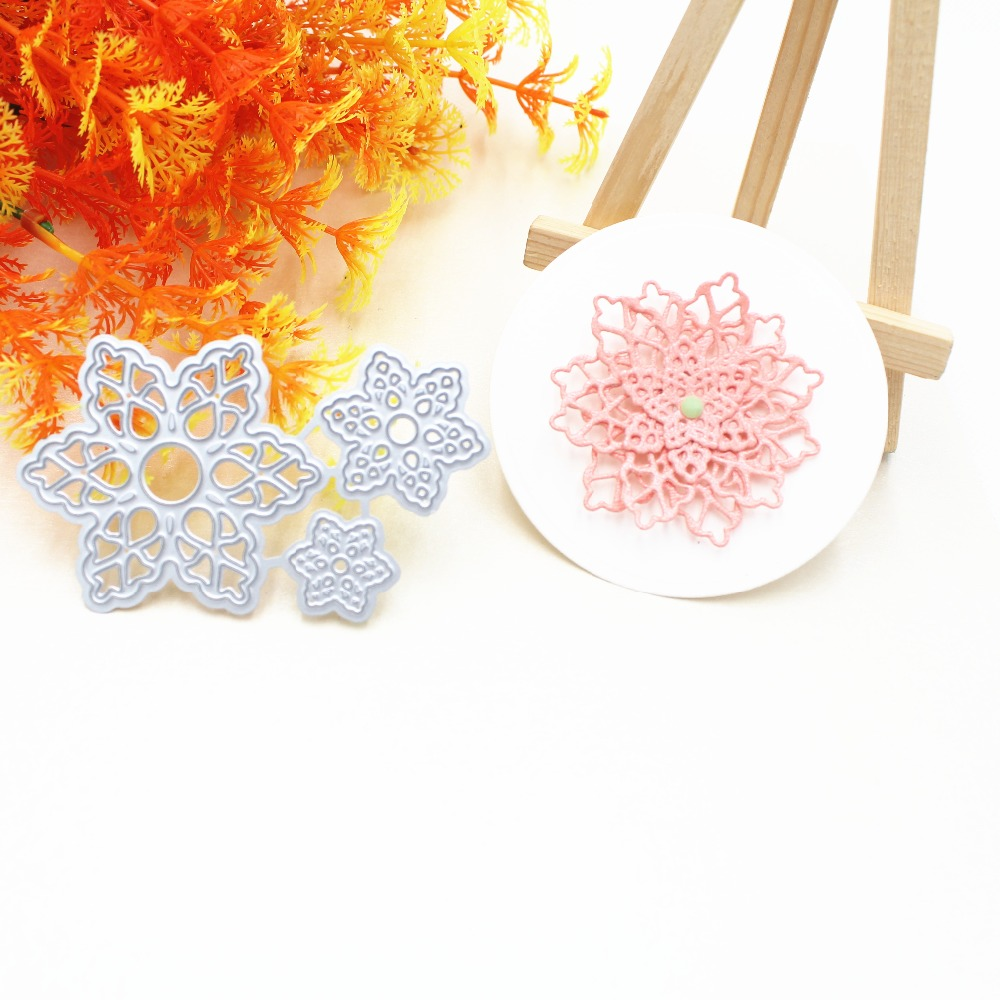 Flower Cutting Dies Stencil Template for DIY Scrapbooking Paper Card Handcraft