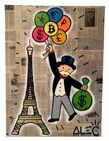 Алек граффити поп арт стрит арт деньги искусства на холсте, плакат и принт, настенные панно для гостиной Home Decor Wall decoratior