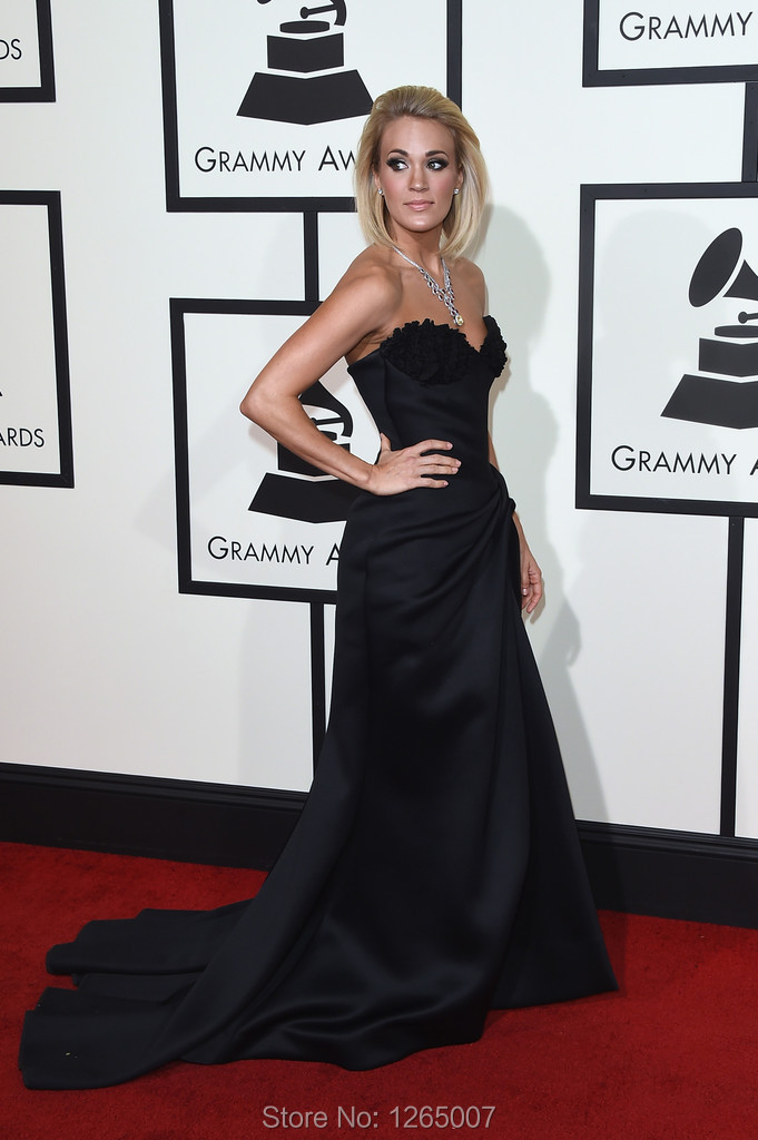 2016 carrie underwood premios grammy vestido de novia apliques alta