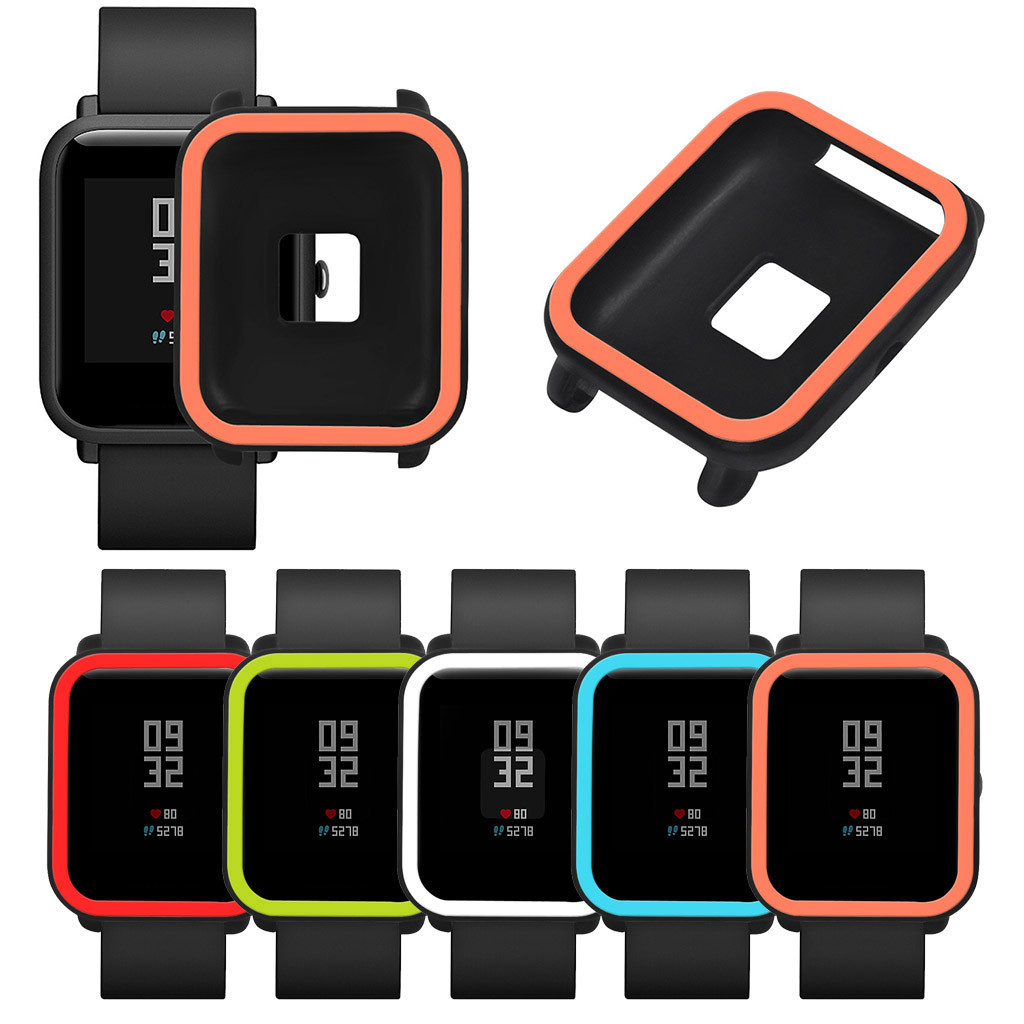 Cover Shell-Frame Watch Wearable-Devices Soft-Case Amazfit/bip Protective for Youth Relogios