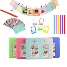 Цветные наклейки+ фотоальбом+ фоторамки+ маркер для Fujifilm Instax Mini 8 9 25 50 7s 70 мгновенная камера и пленочная бумага
