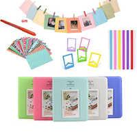 Autocollants couleur + Album de Photos + cadres Photo + stylo marqueur pour Fujifilm Instax Mini 8 9 25 50 7s 70 appareil Photo instantané et papier Film