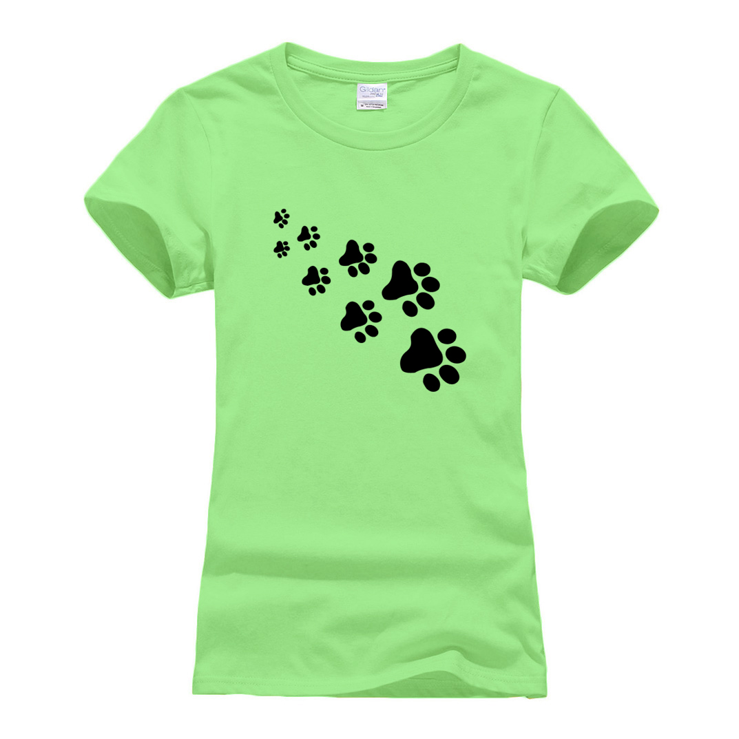 Lady cute cat paws t-shirts for Women Cotton Casual hip hop Funny tee shirt Tops Hipster 2019 summer new arrival t-shirts female