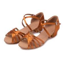 High Quality Women Latin Dance Shoes Children Girls Tango low heeled  Professional Ballroom Dancing Shoes