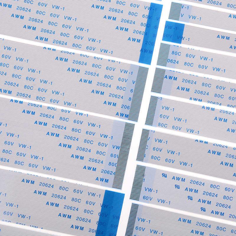 10 Pcs Baru FPC Pita Fleksibel Kabel Datar Pitch 0.5MM 100 Mm Tipe 4/6/ 8/10/12/16/20/20/24/26/28/30/ 34/36/40/45/50/54/60pin
