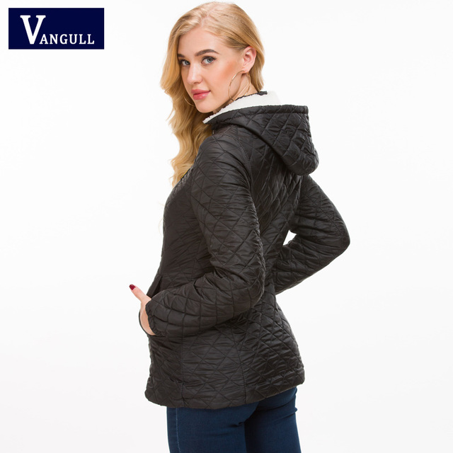 Vangull Winter Jacket Women Thick Warm Hooded Parka 2018 New Slim Down cotton clothing Long sleeve Coat Female Autumn Outerwear 4