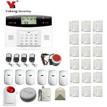 YoBang Security Russian Spanish French Ltalian Language Wireless GSM SMS Household Security Alarm System House Emergency Alarm.