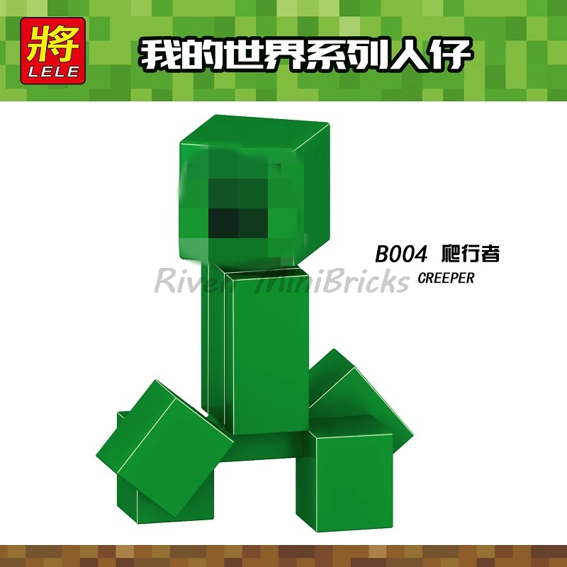 Legoing Minecraft Creeper Figure Building Blocks Funny Educational Toys For  Children Legoings Minecrafts Toy Gifts My World B004