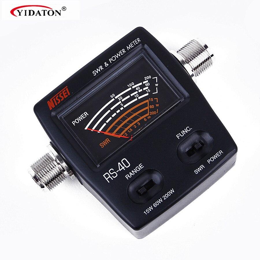 bilder für Walkie Talkie Zubehör Marke Neue NISSEI RS-40 Messbare Bereich 200 watt, mit Adapter Stecker, RS40 Power Swr-meter 144/430 mHz
