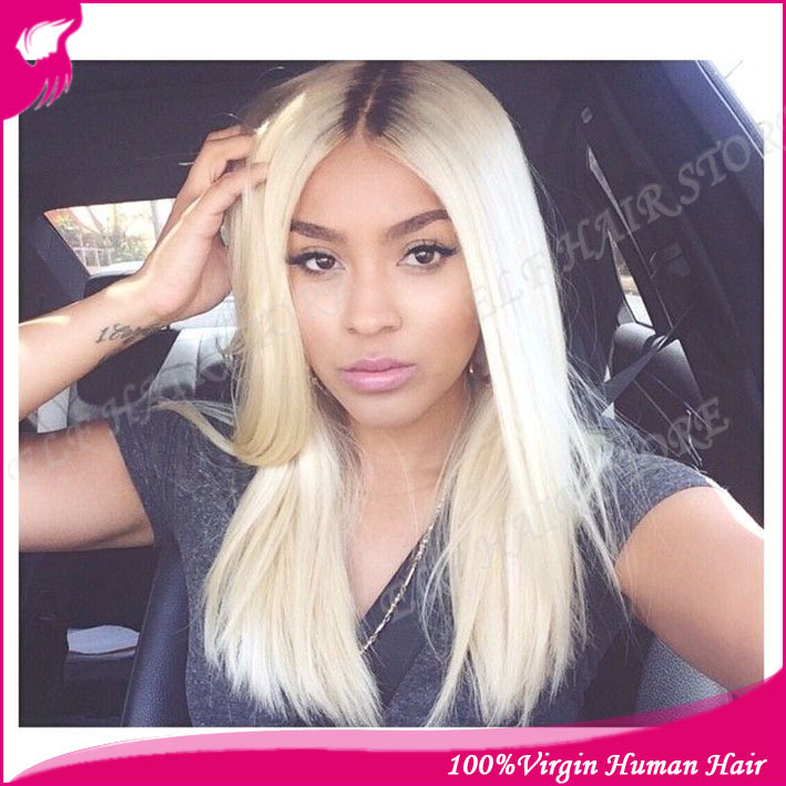 Gorgeous Blonde Ombre Two Tone1b613 Full Lace Wigs