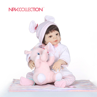 NPKCOLLECTION 55cm Full Body Silicone Reborn Baby Doll Toys Newborn Princess Toddler Babies Dolls Bathe Toy Play House Toy Doll