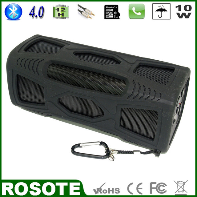2015 New 10W Mini Waterproof Portable Outdoor Super Bass HI-FI subwoofer Bluetooth 4.0 speaker