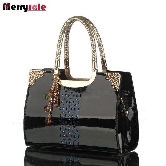 Women leather handbags women bag the new brand handbag patent Korea fashion single shoulder bag