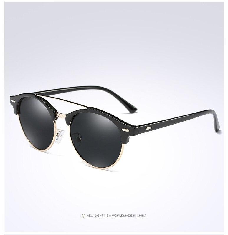 Custom Made Myopia Minus Prescription Polarized Lens Sunglasses Men Half frame Double beam round Sun Glasses Male Goggles FML 4