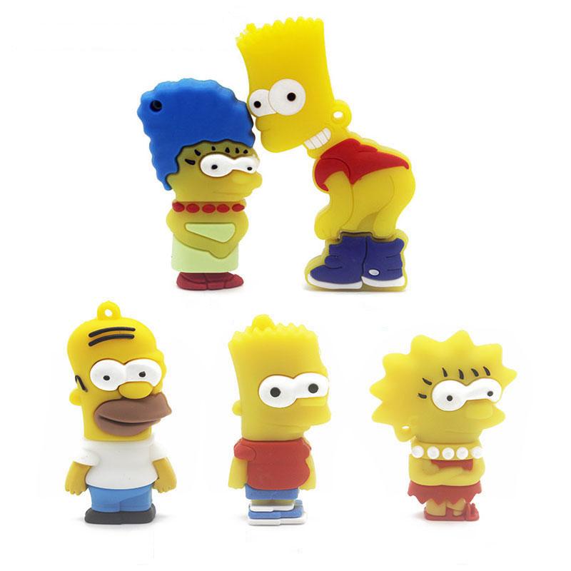 IsMyStore: JASTER Bart Simpson Mouse Wolf 4GB 8GB 32GB 64GB Memory Stick U Disk PenDrive Homer Pen Drive USB Flash Drive