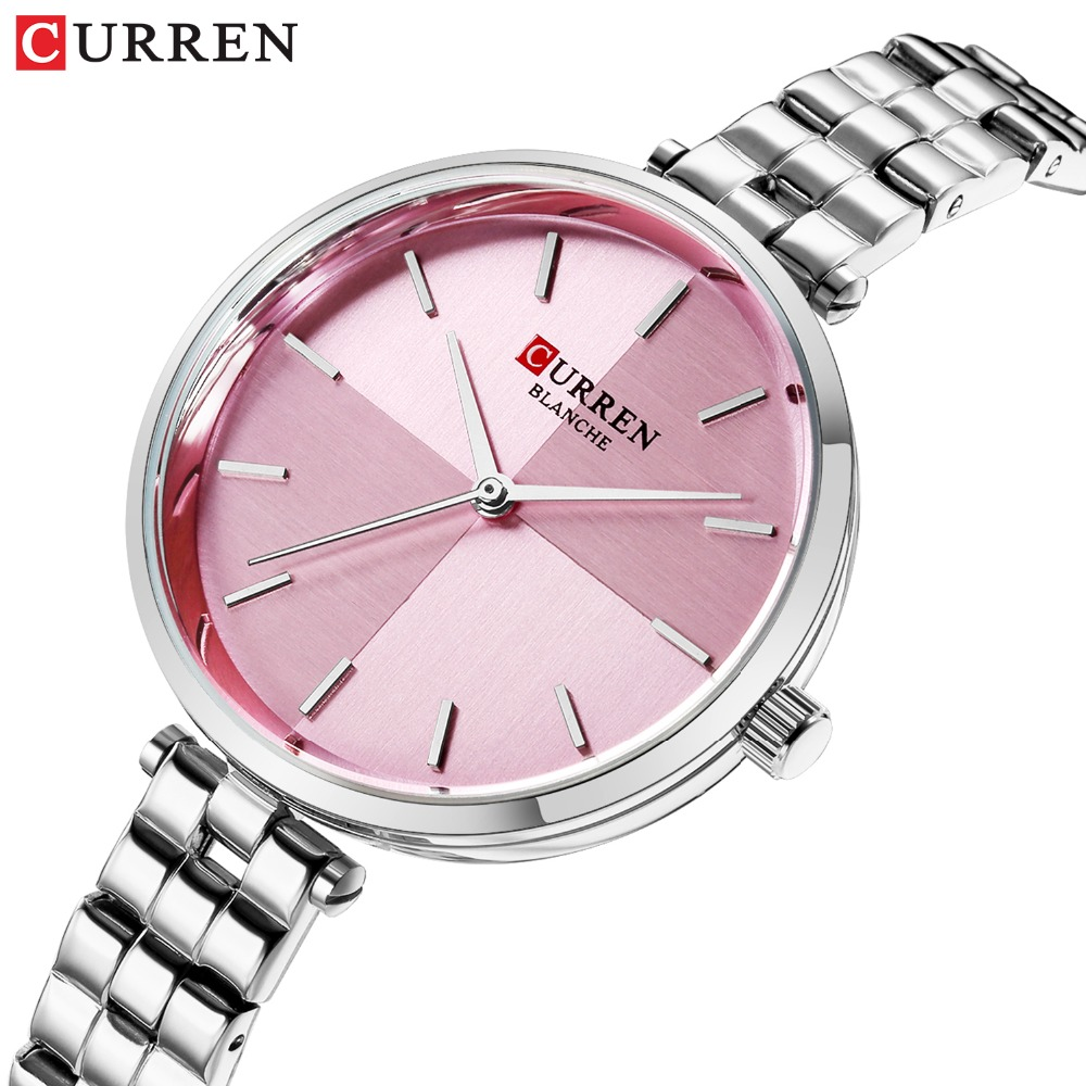 CURREN Women Watches Top Brand Luxury Stainless Steel Strap Watch Ladies Analog Quartz Wristwatch Simple Style Clock Reloj Mujer