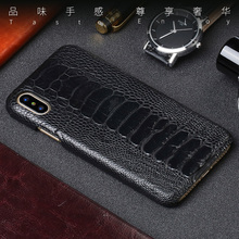 Luxury Genuine Leather For iPhone 11 Pro X 6 6S 7 8 Plus Phone case Original Natural Ostrich foot skin PC protection back cover
