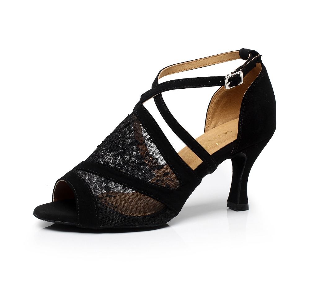 zapatos de baile de encaje sexy negro zapatos de baile latino zapatos de salón damas