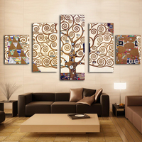 5 Pieces Gustav Klimt prints Wall Art Print on Canvas for Home Decoration Room