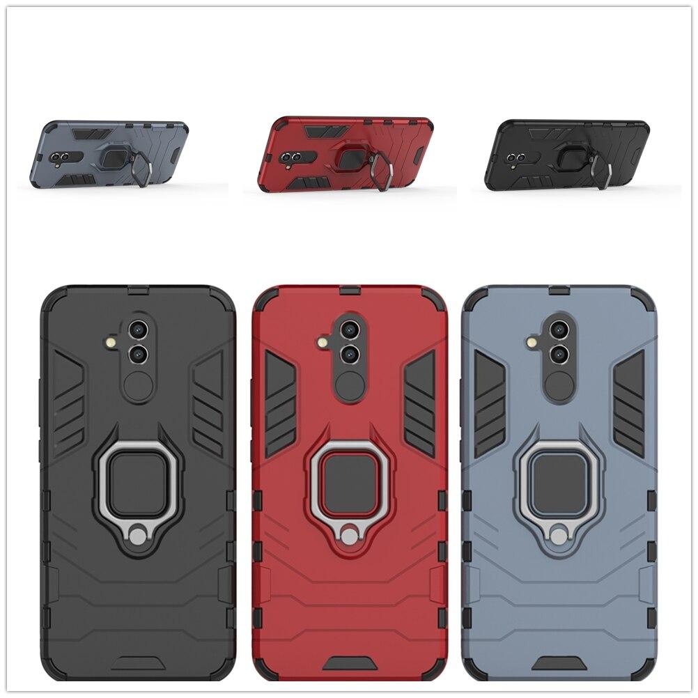 Adsorption Couverture Arrière Pour Huawei P20 Lite Pro + PC Dur Armure Étui Mat Fundas Pour Huawai Mate 10 9 support Équipée En Plastique