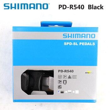 SHIMANO-pedales PD R540 con autosujeción SPD, componentes de Pedal para bicicleta de...