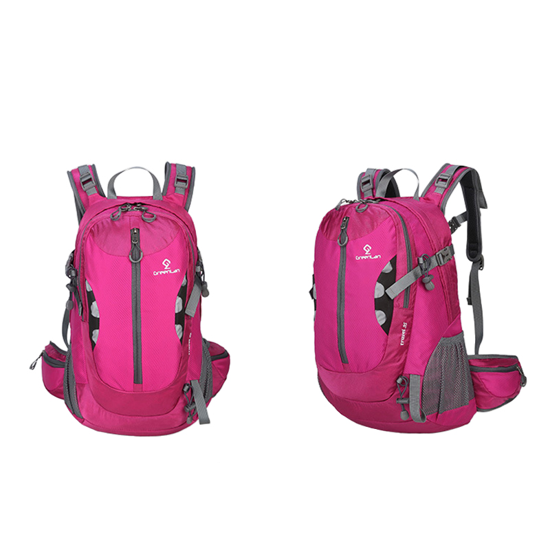 35L Man Women nylon waterproof wrinkle outdoor sports bag Camping hiking leisure hiking backpack A