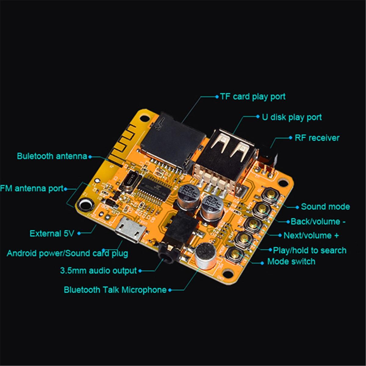 US $10 36 37% OFF|LEORY Remote APP Control bluetooth 4 2 Wireless Modular  Receiver Board Audio Amplifier Board Antenna for MP3/WMA/WAV-in Wireless