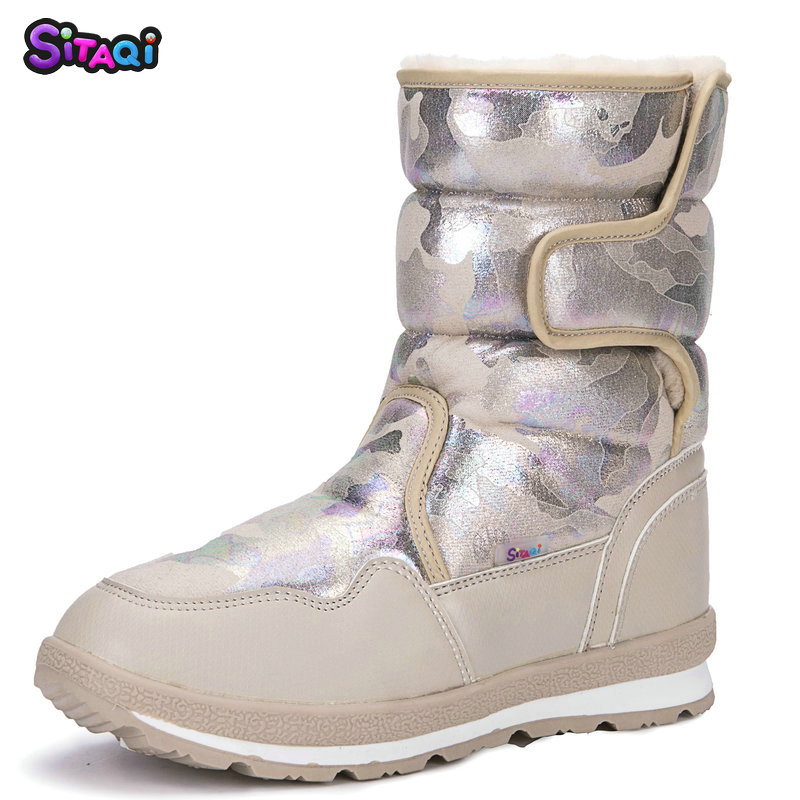 2019 Girl shoes new fashion Snow Boots Kids boots  winter soft fur antiskid outsole plus size 27 to 41 boots free shipping hot2019 Girl shoes new fashion Snow Boots Kids boots  winter soft fur antiskid outsole plus size 27 to 41 boots free shipping hot