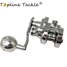 TopLine Tackle Trolling Reel Aluminum CNC Machined 100-300 Series Fishing Right Hand Max Drag 25kg-30kgJigging