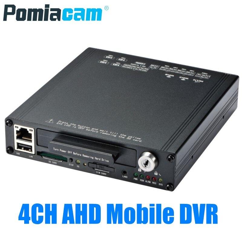 1080P 4CH AHD мобильный видеорегистратор HDVR9804, основная версия, автомобильный автобус, DVR, 4 канала, Мобильный HDD, система видеозаписи