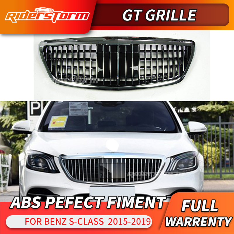 Grille Grill S63 S65 Style for MERCEDES BENZ S-CLASS W222 S400 S500 2014-2017