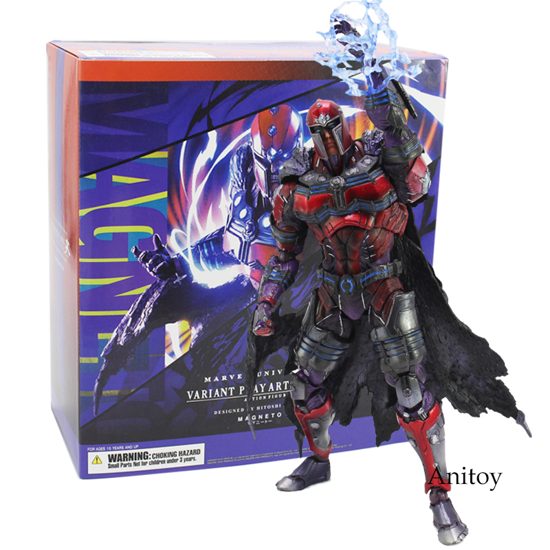 Marvel Universe VARIANT PLAY ARTS KAI MAGNETO PVC Action Figure Collectible Model Toy 25cm fire toy marvel deadpool pvc action figure collectible model toy 10 27cm mvfg363