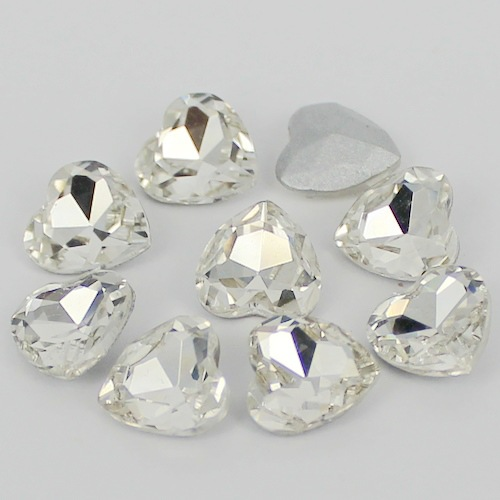 Crystal Heart Shape Crystal Fancy Stone Point Back Glass Stone For DIY Jewelry Accessory.8mm 10mm12mm 14mm 16mm 18mm 23mm mini fancy 4pcs crystal skull transparent glass cup
