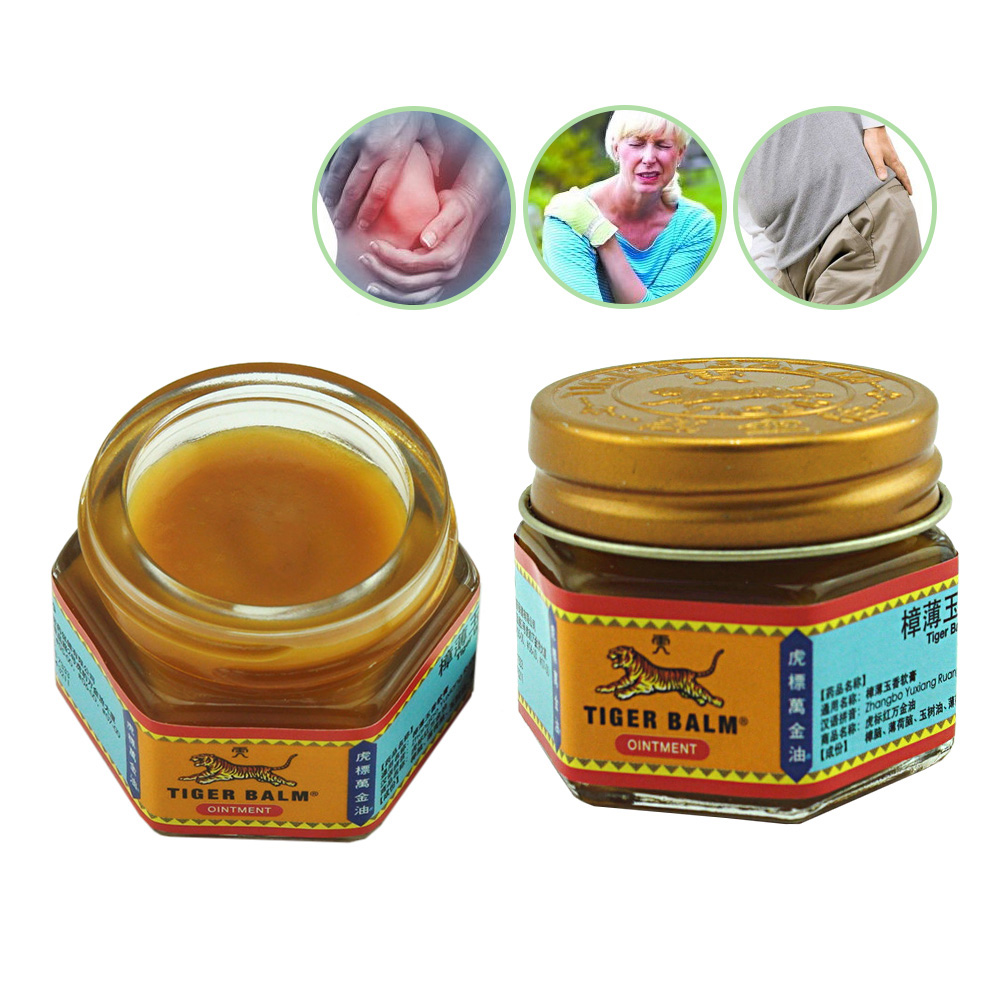 1Pcs 100% Natural Original Red/White Tiger Balm Ointment Thailand Painkiller Ointment Muscle Pain Relief Ointment Soothe C102